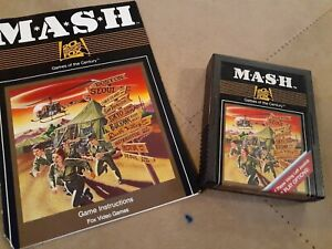 M*A*S*H  by 20th CENTURY FOX for Atari 2600 ▪︎ CARTRIDGE and MANUAL ▪︎