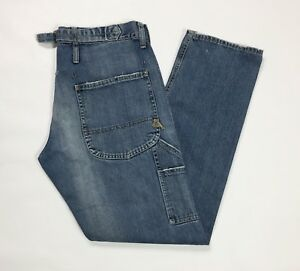 Cycle-jeans-uomo-usato-relaxed-destroyed-cargo-denim-blu-size-W30-tg-44-T3042