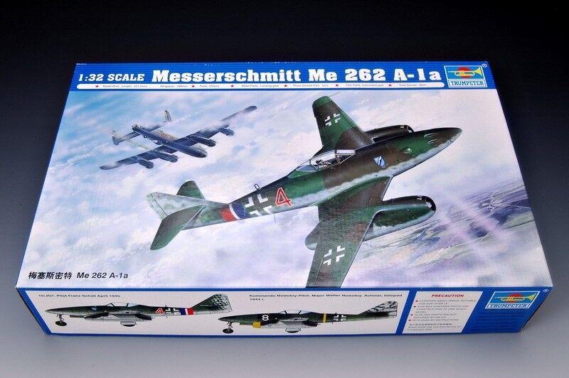 comprar marca Trumpeter Trumpeter Trumpeter Messerschmitt Me 262 A-1a Ref 02235 Escala 1-32  nueva gama alta exclusiva