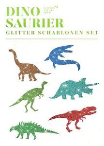Glitzer-Tattoo-Schablonenset-Dinosaurier-6-fuer-Kindergeburtstag-Glitter-Tattoo