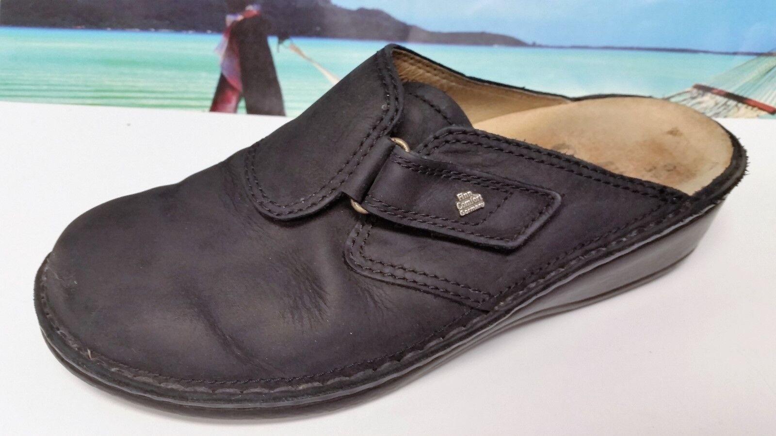 Finn Comfort Black Suede made in Germany Vaasa EURO  39 - US 8.5