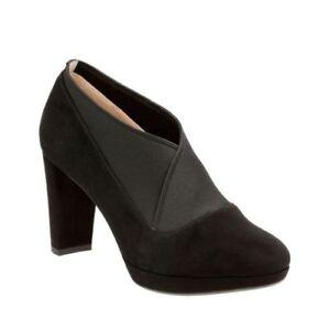 Kendra ville en Chaussures dames Black cuir daim Clarks de Chaussures de en Office Nouveau travail pour qwTFtOn