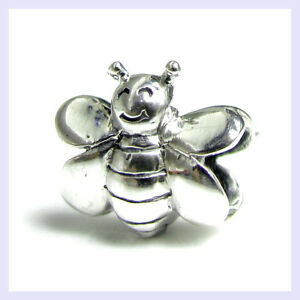 925-Sterling-Silver-Smile-Honey-Bumble-Bee-Bead-for-European-Charm-Bracelet