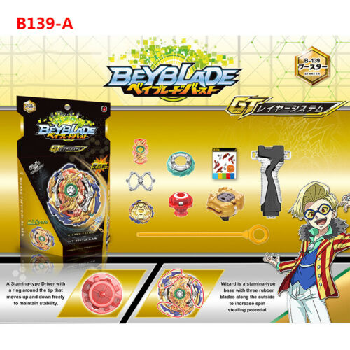 2019 New Beyblade BURST GT B-139 Wizard Fafnir.Rt.Rs Sen Starter Box Set For Kid