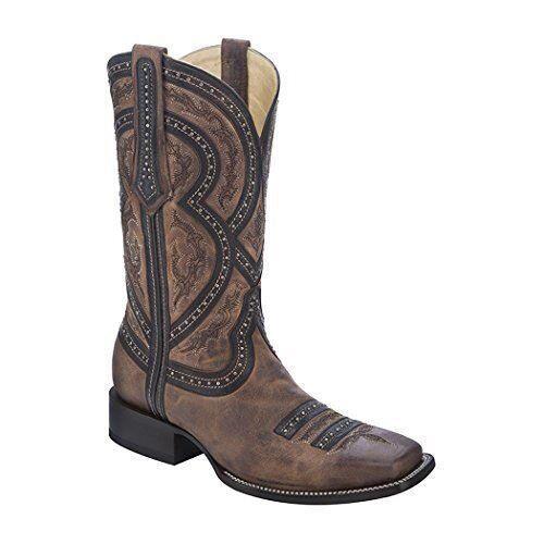 CORRAL Men's Studded Overlay Cowboy avvio Square Toe - G1270