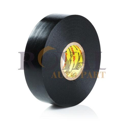"10 ROLLS 3M 06132 SUPER 33 3//4/"" X 66/' BLACK Vinyl Electrical Tape"