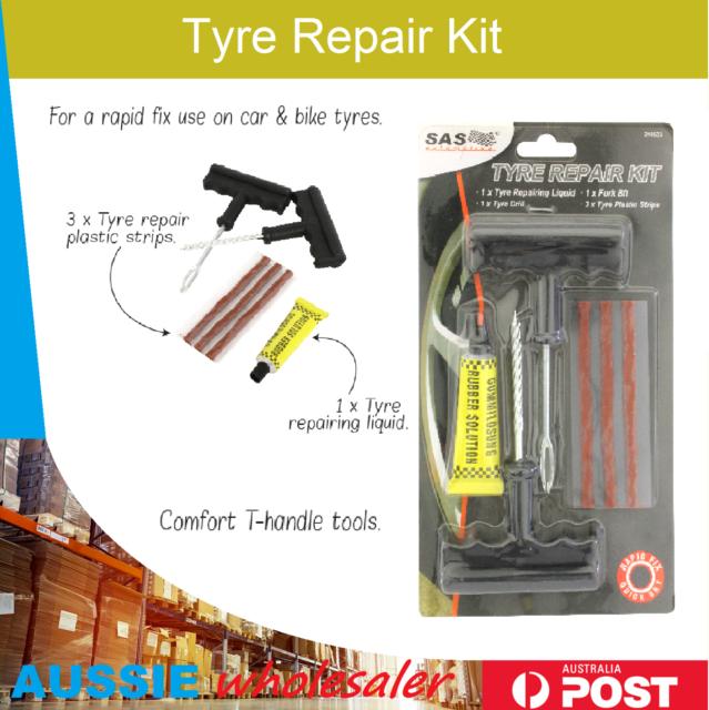 Tyre Repair Kit Tire Puncture Emergency Tools Set Motorcycle Bike Car Tubeless