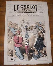 Le Grelot Journal Satirique N°125 Stupéfaction Par Alfred Le Petit du 31/08/1873