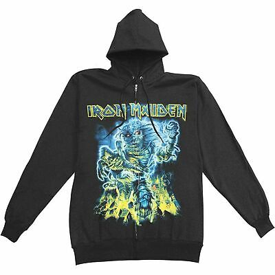 Iron Maiden SOMEWHERE BACK IN TIME Zip Up Hoodie Hooded Sweatshirt NEW Licensed