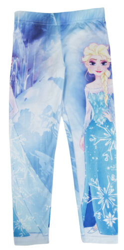 Girls Character Leggings Skinny Jeggings Stretch Summer Trousers Pants Kids Size
