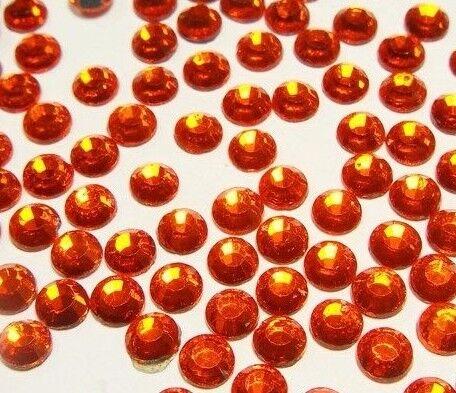 350 HotFix pedrería 4mm naranja Feurer vidrio pedrería perchas piedras 34