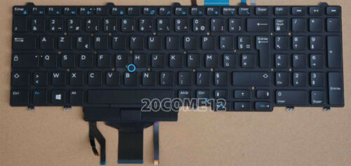 NEW FOR DELL Latitude 5550 5580 Keyboard Backlit French Clavier No Frame