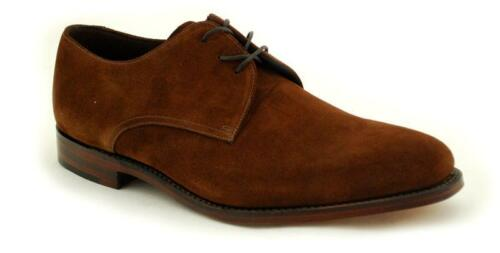 Loake part stitched Premium Mens Shoe 3 Eye Downing brown suede