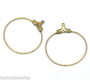 4 Anneaux Pour Bo Créoles Couleur Bronze 29 X 26 Mm