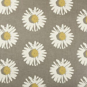 Image Is Loading Daisy Chartreuse Grey Floral Oilcloth Wipeclean PVC Vinyl