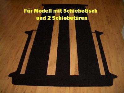 Komplett Teppich Fußmatte hinten VW T6 Caravelle 2 Schiebetüren