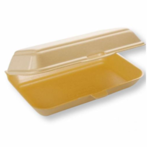 HB10-Food-Take-Away-Large-BURGER-BOX-Foam-polystyrene-CONTAINERS-x-50-Gold