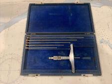 Brown Sharpe No 608 0 6 Depth Micrometer Machinist Lathe Usa Used