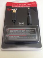 Gigaware 6-Foot USB-A Male To Mini USB-B Cable 2.0 High Speed NEW