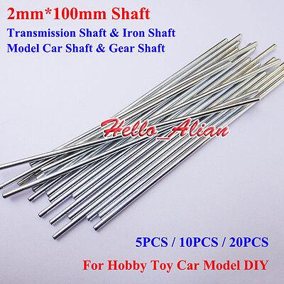 2mm*100mm Model Axles Gear Shaft Transmission Shaft Rod DIY Car Toy Accessories