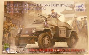 Bronco-1-35-SD-KFZ-221-Light-Armored-Chinese-Army-Version-Panzerspahwagen-New