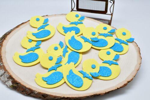 10 Ducks Baby Shower Favors Foam Decorations Patos Esponja Blue Pink Recuerdos
