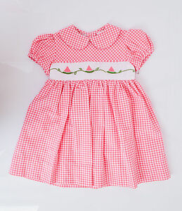 dc38de4e8d140 NWT Carriage Boutique Baby Girls Pink Hand Smocked Dress Sizes 3 6 9 ...