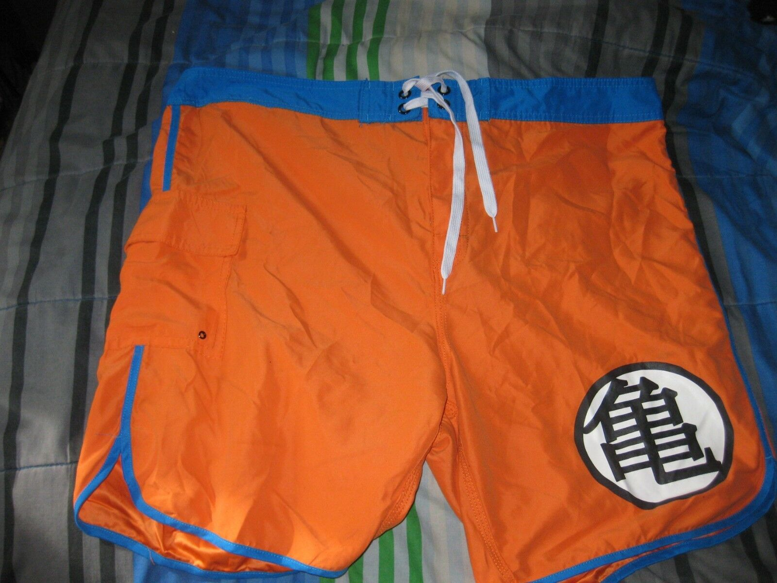 Hot Topic orange Dragon Ball Z Beach Trunks Board Shorts size XXL