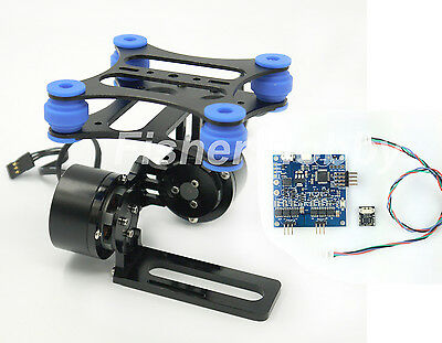 CNC Metal Brushless Gimbal camera W/ Motors & controller for DJI Phantom Gopro 2