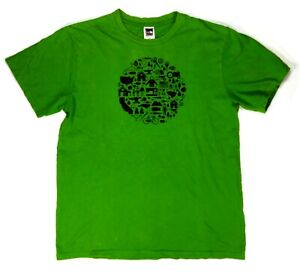 The-North-Face-Mens-M-Short-Sleeve-Graphic-Tee-Brand-Logo-Green