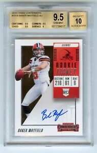 Baker-Mayfield-2018-Panini-Contenders-Rookie-Ticket-Auto-RC-Browns-BGS-9-5