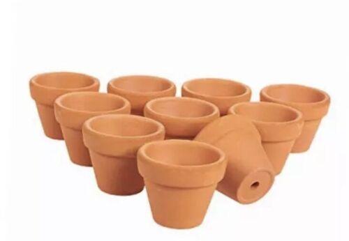 "set of 10 small 1.75"" terra cotta pots clay flower pots mini flower pot planter"