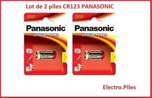Lot-de-2-piles-speciales-photos-CR123-lithium-Panasonic-livraison-gratuite