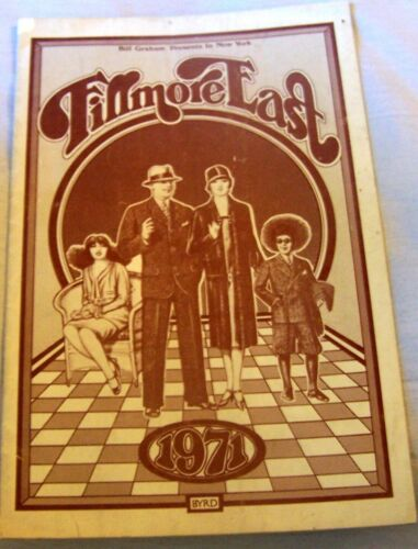 Fillmore East Music Hall Concert Program Johnny Edgar Winter Flyer Graham Rock