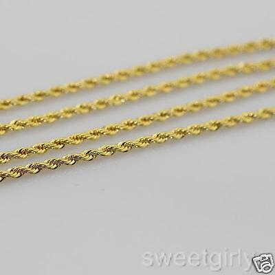 2pcs/lots 18k Yellow Gold GF rope knot link chain for pendant 60cm mens womens