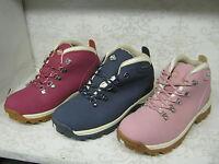 Northwest Territory Trek Red, Pink Or Navy Leather Waterproof Walking Boots