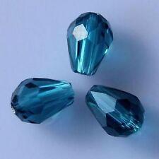 18 Pieces Swarovski Peacock-blue crystal 6010# 8*6mm Teardrop bead B