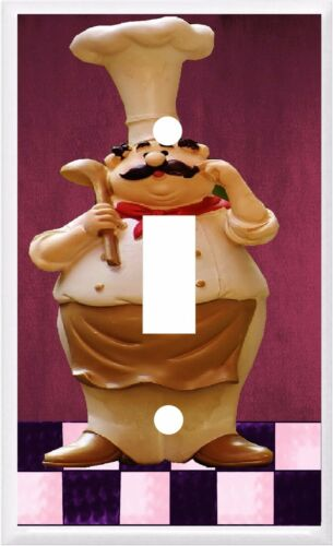 FAT CHEF  WITH LADLE #22 LIGHT SWITCH COVER PLATE