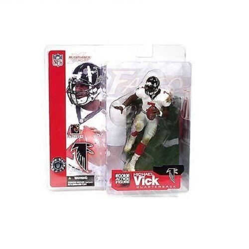 online store 74169 0bfae McFarlane NFL Series 4 Michael Vick Atlanta Falcons White Jersey Rookie  Figure