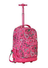 Rolling Backpack Rockland Sedan Bandana School Bookbag Carry On 19in Travel Bag