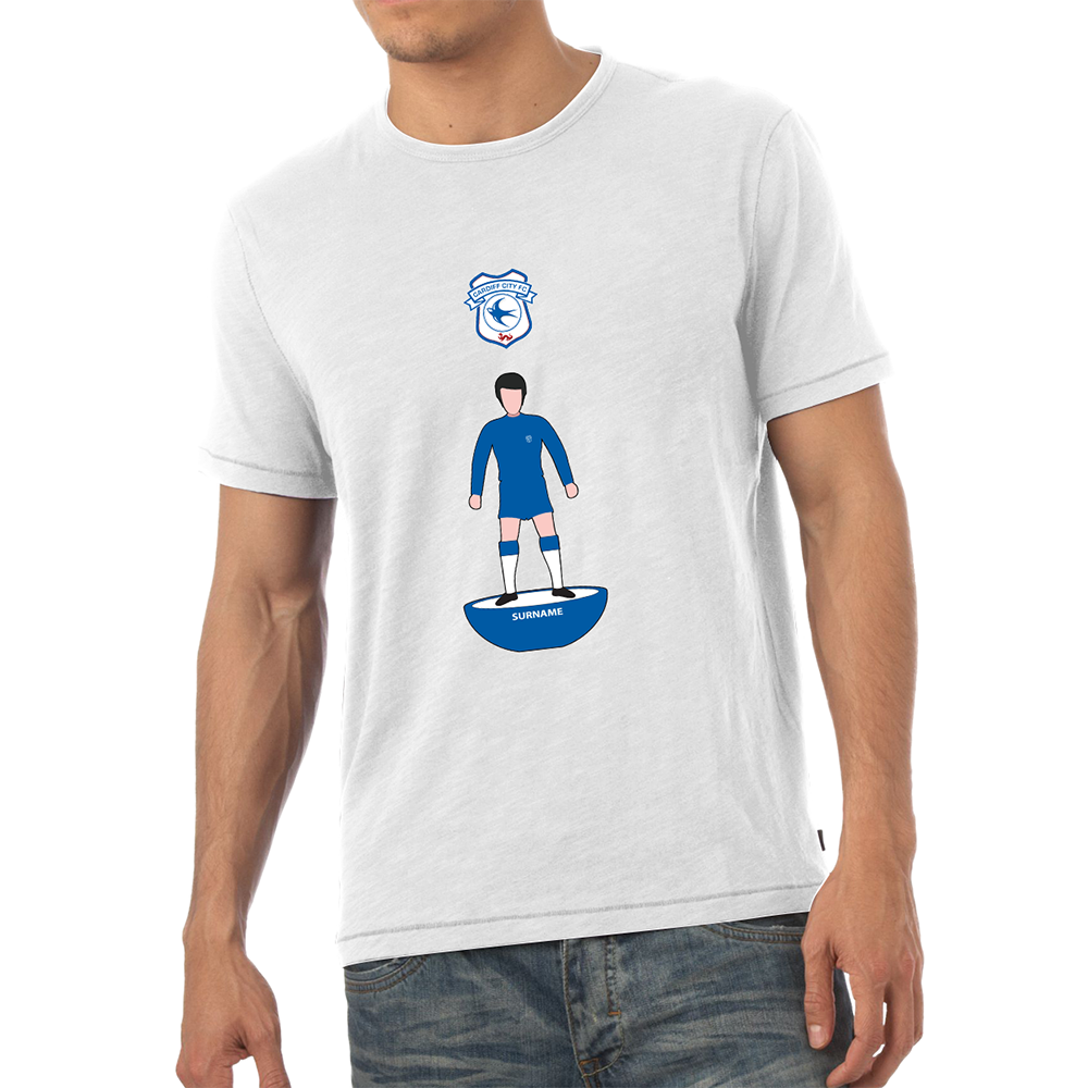 Cardiff City F.C - Personalised Mens T-Shirt (PLAYER FIGURE)