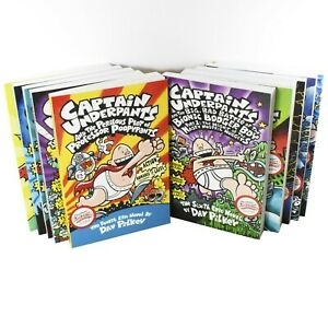 Captain-Underpants-10-Books-Children-Collection-Paperback-Set-By-Dav-Pilkey