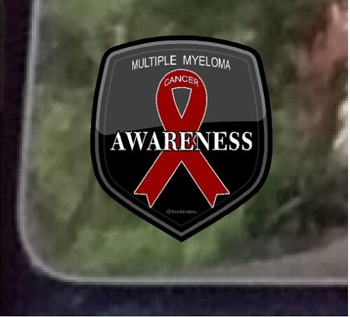 """One 4/"""" Cancer Awareness /""""Multiple Myeloma/"""" Decal Sticker ProSticker 2522"""