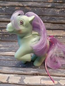 Vintage-G1-MLP-My-Little-Pony-Sundae-Best-Peppermint-Crunch-Ponies-Scented