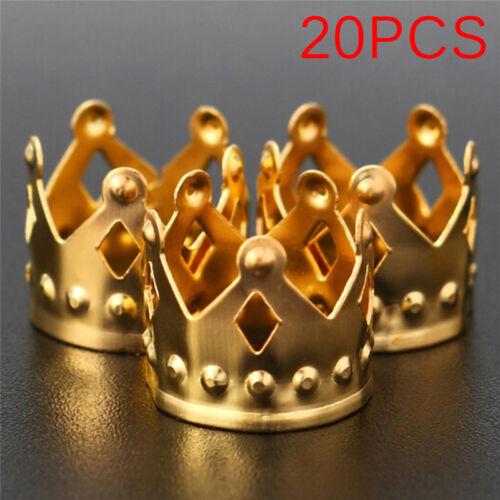 20Pcs Dreadlock Beads Gold Silver Dread Hair Braid Adjustable Cuff tube Clip ZP
