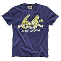 GENUINE Triumph Motorcycles Bonneville 64 Club Mens T Shirt Navy Blue 50% OFF