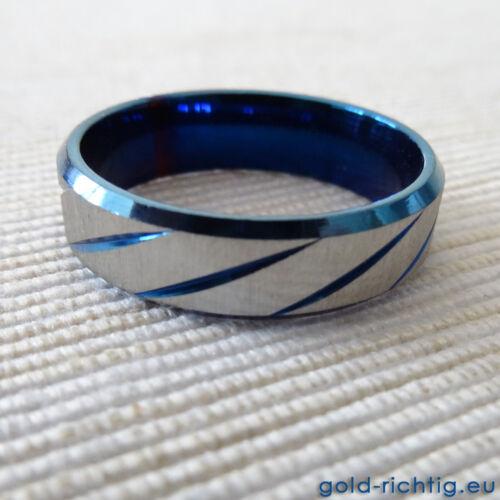 Frosted ice-ring anillos de pareja de damas anillo de mujer caballeros anillo negro azul oro nuevo