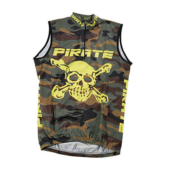 Pirate Trikot Camo ohne Arm, Skull, Totenkopf, Pirat, Pirates