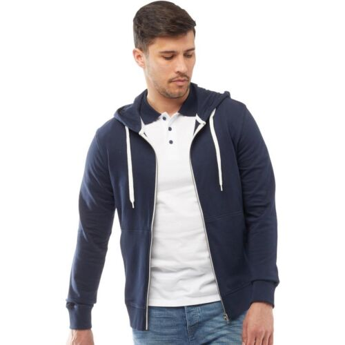 Men/'s JACK /& JONES HOLMEN Sweat Zip Through Plain Hoodie Top Hooded Sweatshirt