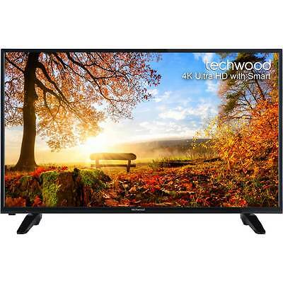 "Techwood 55AO4USB 55"" Smart LED 4K Ultra HD Freeview HD TV Black New"